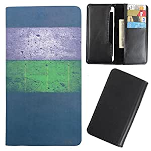 DooDa - For Panasonic Eluga U PU Leather Designer Fashionable Fancy Case Cover Pouch With Card & Cash Slots & Smooth Inner Velvet