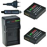 ChiliPower Panasonic DMW-BLH7, DMW-BLH7E, DMW-BLH7PP Kit: 2x Batterie (700mAh) + Chargeur pour Panasonic Lumix DMC-GM1