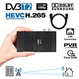 Crypto Redi 30PH Mini DVBT2 Full HD Receiver mit H.265/HEVC, Dolby, PVR Ready, Media Player, LAN, HDMI, RF Out und Fernbedienung mit 4 Tasten Lernfunktion (inkl. HDMI Cable)