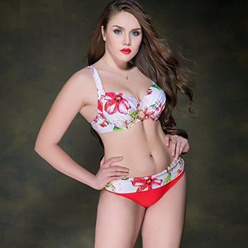 Mme summer maillot bikini bikini maillot de bain triangle haut loin de l'Europe et l'ensemble de maillot-YU&XIN Red