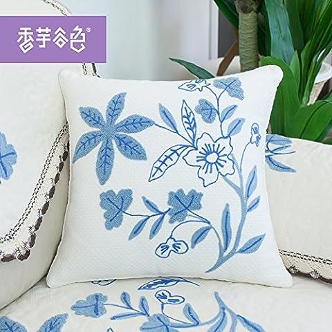 Home divano Decorazione auto ornamento tenere buttare cuscino cuscino Natale regalo di ringraziamento tessuto Cuscini Cuscini giardino di fiori di moda in ufficio divano cuscini,45x45cm,Bianco latte