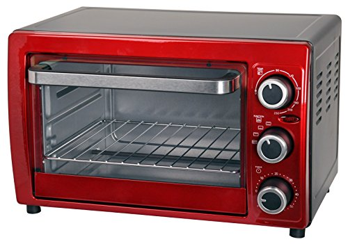 Efbe-Schott SC OT 900.1 Mini Oven, 15 Litre, Metallic red