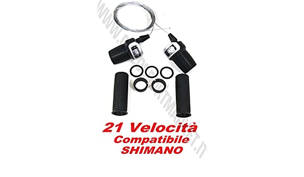 Fili Cambio inclusi Leva SHIMANO Comando bici MTB City Bike Freno 7 Velocità