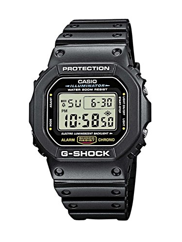 Reloj CASIO G-SHOCK DW-5600E-1V Cronógrafo, Alarma, Cuenta regresiva, Sumergible 20BAR-Correa de...