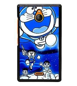 printtech Designer funny cartoon Back Case Cover for Nokia XL Dual SIM RM-1030/RM-1042 with dual-SIM card slots