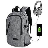 Zaino per laptop con caricatore USB Zaino per scuola Zaino per studenti antifurto Zaino per bambini Business Travel per uomo / donna (nuovo)
