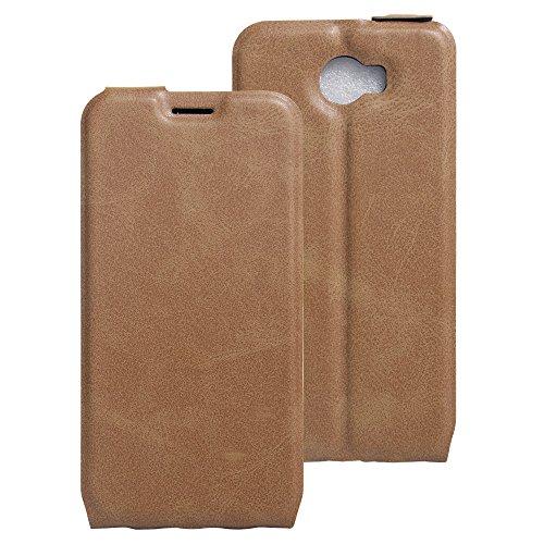 COVO® PU+TPU Kunstleder Brieftasche Hülle für Archos 50 Cobalt mit Stand Funktion (Braun)