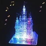 EMOTREE 3D LED Kristall Schloss Puzzle Musikbox Junge Spielzeug Geschenk Geduldspiel