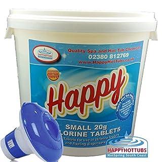 5kg Chlorine Tablets 20g Hot Tub Spa Tubs + Dispenser