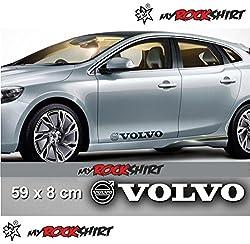"Volvo 2 x Aufkleber Autoaufkleber Auto Tuning Sticker Aufkleber mit Montage Set inkl. ""Estrellina-Montage-Rakel®"" & ""Estrellina-Glücksaufkleber®"""