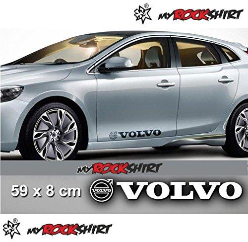 Volvo 2 x Aufkleber Autoaufkleber Auto Tuning Sticker Aufkleber mit Montage Set inkl.