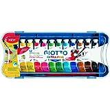 Giotto 304000 - Tempera Extra in Tubetto 12 ml, 12 Colori