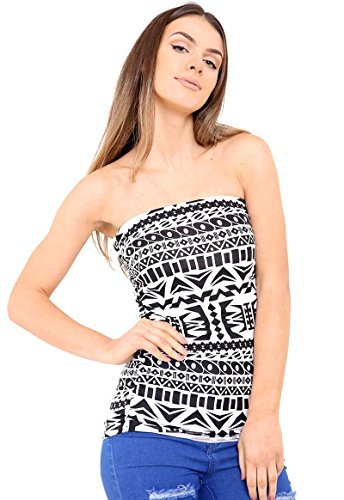 janisramone femmes bandeau télé filles robe bustier cultures gilet de soutien-gorge top Big Aztec