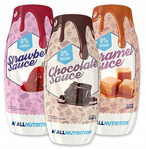 ALLNUTRITION Syrup Weniger Fett -Zucker Als Herkömmlicher Sirup Diät 300ml (Chocolate -Schokolade)