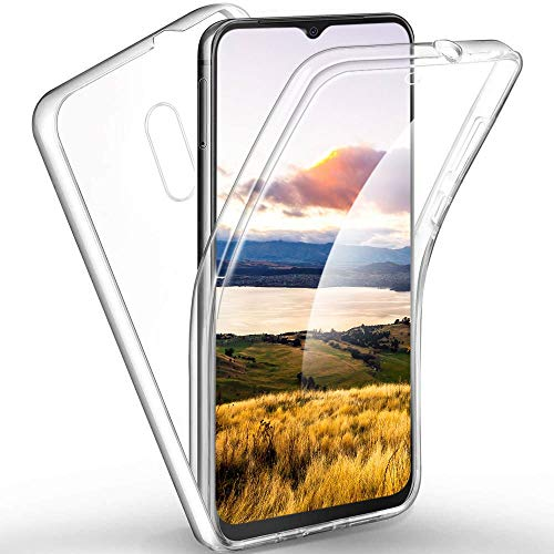 ZHXMALL 360°Protezione Custodia per Huawei Mate 20 X 5G, Ultra Sottile Trasparente Case [Anteriore Silicone TPU +Posteriore PC] 2-in-1 Completa Copertura Leggera Cover