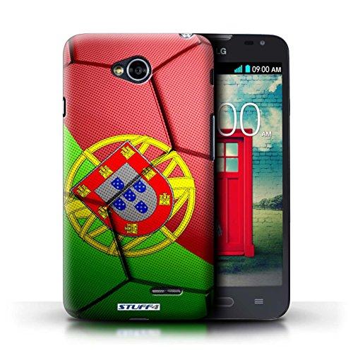 Kobalt® Imprimé Etui / Coque pour LG L70/D320 / France/Français conception / Série Nations de Football Portugal