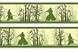 Frise murale adhésive «bambushain schwertkämpfern 560 pièces avec 4 x 15 cm, frise murale deco fun décoration murale-bordure, japon, samurai