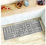 Segle Waschbar Küchenläufer Rutschfeste Küchenteppich Weich Strapazierfähig Küchenmatte Rückseite aus Gummi Fußmatte abosrbent Badteppich Läufer Teppich 40 x 120 cm Briefgestaltung
