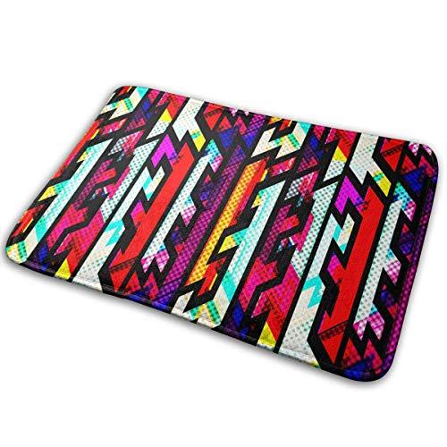 Nautische Ernte (QuGujun Cheap Towels Colorful 3D Arrows Bath Mat Non Slip Absorbent Super Cozy Velvet Bathroom Rug Carpet Bath Rugs)