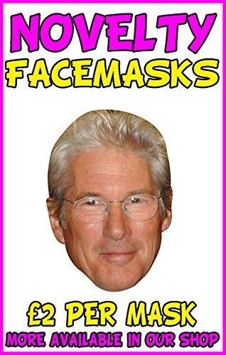 Richard Gere Celebrity Mask Card Face and Fancy Dress Mask