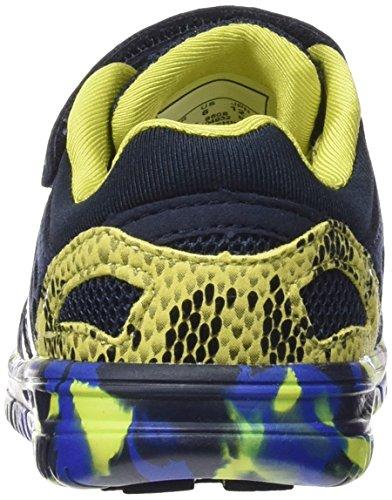 Hummel Crosslite Infant, Chaussures Multisport Indoor mixte enfant Bleu - Blau (Dress Blue / Sulphur Spring 8608)