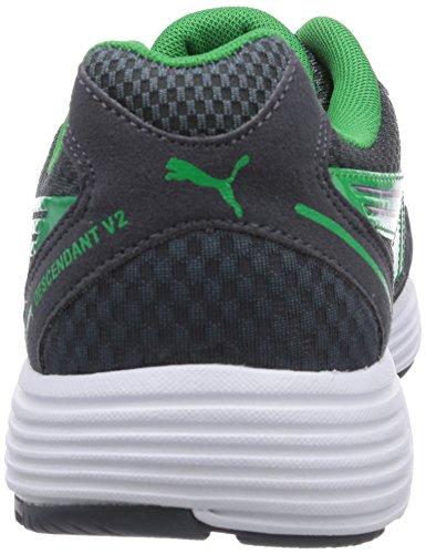 Puma Descendant V2, Chaussures de sports extérieurs homme Gris (12 Turbulence/Brght Green)