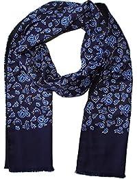 Blue Vintage Paisley Scarf