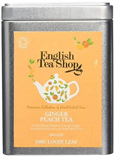 English Tea Shop Ginger Peach Tea Organic Loose Tea 100 g