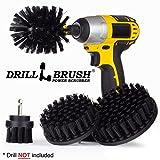 Drillbrush Ultra Stiff Drill Powered pulizia pennelli per Heavy Duty Industrial mette a nudo e Grill pulizia black-ultra stiff