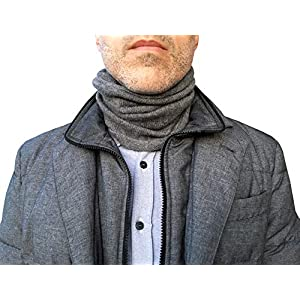 100% Kaschmir-Schal Herren Grau Made in Italy