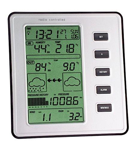 TFA Dostmann Stratos Funk-Wetterstation, mit Wind- und Regenmesser, Wetterbeobachtung, Alarmgrenzen, Höchst- und Tiefwerte