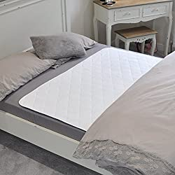 Protector impermeable de la almohadilla de la cama de GuradedSleep. Sábana lavable de calidad premium y protector de colchón para adultos y niños con incontinencia. Extra largo en tamaño para camas dobles y individuales.