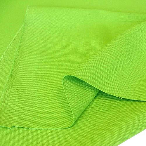 TOLKO Baumwollstoff - Schwerer Canvas-Stoff Meterware als Polsterstoff/Möbelstoff - Stabil, Abriebfeste Baumwoll-Qualität, 150cm Breite (Apfel-Grün) - Baumwolle Stoff Stuhl