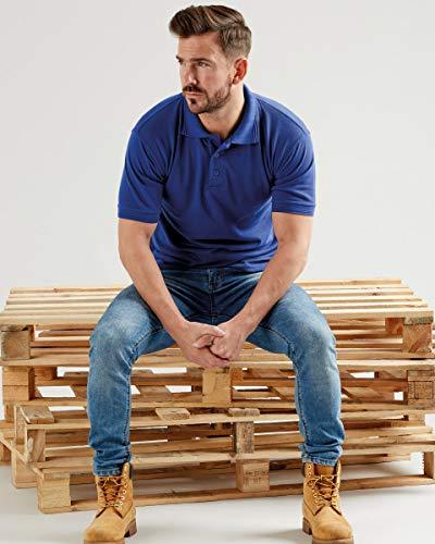 Ultimate Clothing Company Poloshirt aus Piqué, 50 Stück Gr. X-Large, himmelblau -