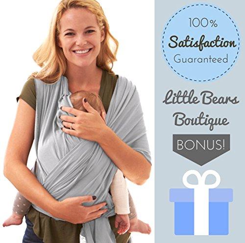 Premium Baby Carrier Wrap i tenero e morbido per i genitori e bambini ergonomico e confortevole Fit mi taglia unica, regalo perfetto bambino doccia emolliente e delicata per neonati, bambini e bambini fino a 35kg - Baby Doll Sling