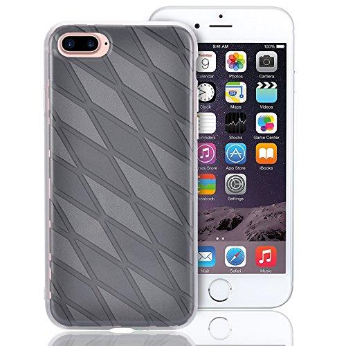 Custodia per iPhone 7 Plus, Custodia per iPhone 7 Plus, Sunroyal Creativo Cover Soft Morbida in Silicone Gel Gomma TPU Ultra Thin Slim con Bordo Protezione Fotocamera e Tappo Antipolvere per iPhone 7  Modello 11