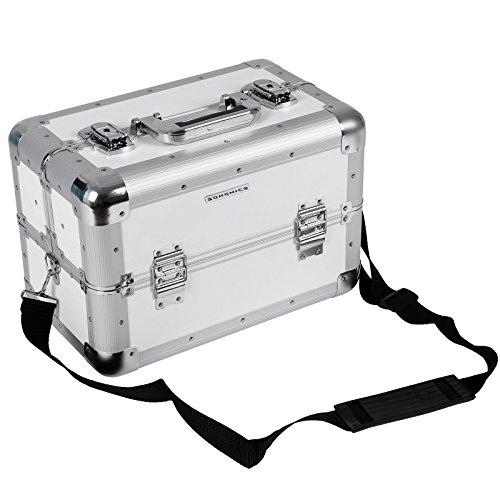 Songmics Kosmetikkoffer XXL groß für Gepäck 36,5 x 22 x 25 cm Alu, Weiß JBC228W