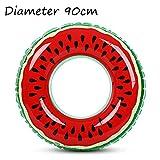 YOUYONGSR 60/70/80/90 cm Strand oder Swimmingpool schwimmen Ring PVC-aufblasbares Wassermelone Erwachsene Kinder von Fruit Schwimmen Kreis Burgund