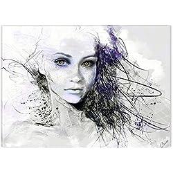 Startonight Leinwand Wand Kunst Das Mädchen aus dem Traum, Doppelansicht Überraschung Modernes Dekor Kunstwerk Gerahmte Wand Kunst 100% Ursprüngliche Fertig zum Aufhängen 60 x 90 CM