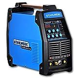 STAHLWERK CT520 Puls S - Kombi WIG Schweißgerät mit Plasmaschneider & MMA, durch Pulsfunktion Dünnblech geeignet, 5 Jahre Herstellergarantie, blau