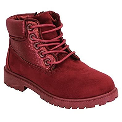Girls Suede Look Boots Toddlers High Ankle Lace Up Zip Casual Winter  Fashion New: Amazon.co.uk: Shoes & Bags