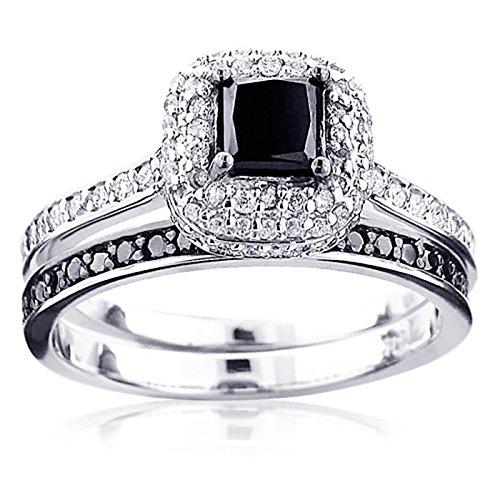 luxurman-10k-white-black-diamond-unique-bridal-engagement-ring-set-white-gold-size-55