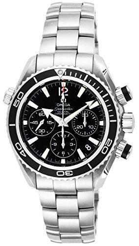 Omega Uhren Seamaster Planet Ocean Schwarz Zifferblatt 600m wasserdicht Koaxialkabel Automatik Chronograph 222.30.38.50.01.001