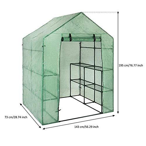 circulor Foliengewächshaus, Gartengewächshaus-Pflanzendecke Mit PE-Gitter, Geeignet Für Innen-, Außen- Und Multifunktionsbereiche(Ohne Eisenrahmen)