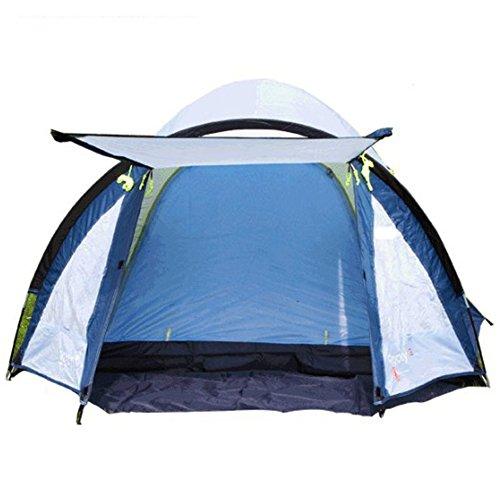 Mqhy tent 3-4 persone tenda grande famiglia spiaggia travel tende da campeggio anti pioggia anti sunscreen doppio pianale tende a caldo tempo libero tenda facile da utilizzare blu e nastro