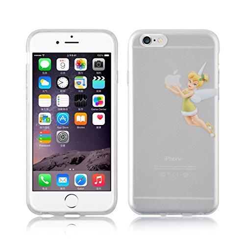 iPhone 8, iPhone 7 Hülle | JAMMYLIZARD Transparente Schutzhülle Sketch Back Cover Case aus Silikon, Mario Brüder TINKERBELL