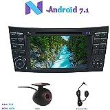 """Android 7.1 Autoradio, Hi-azul 2 Din Radio de Coche 7"""" Navegación GPS Auto Radio Estereo con Pantalla Multitáctil y Reproductor De DVD para Mercedes-Benz E-W211/E200/E220/E240/E270/E280 (con DVR)"""