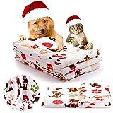 iNNEXT Welpen Decke Weihnachtsgeschenk Warm Hund Katze Flanell Decken Mat Bettdecke Schlafmatte für Kätzchen Welpen,hunde decken winter Hündchen Kleine Tiere (klein,76 x52 cm)