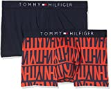 Tommy Hilfiger Herren Shorts 2P Trunk Logo, 2er Pack, Mehrfarbig (Poppy Red/Navy Blazer 638), Large