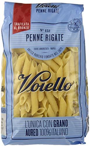 Voiello Pasta Penne Rigate N.152, Doppia Rigatura, Pasta Corta di Semola Grano Aureo 100% - 500 gr